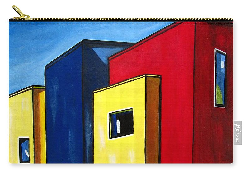 Landscape Carry-all Pouch featuring the painting Urban 11 by Sandra Marie Adams