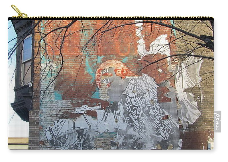 Urban Carry-all Pouch featuring the photograph Urban Decay Mural Wall 4 by Anita Burgermeister