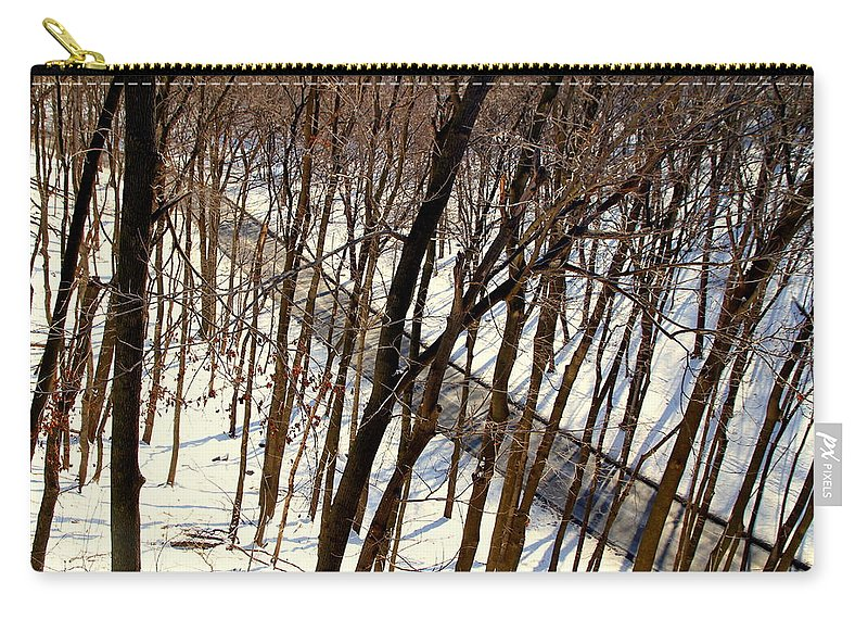 Winter Carry-all Pouch featuring the photograph Urban Forest At Dusk by Valentino Visentini
