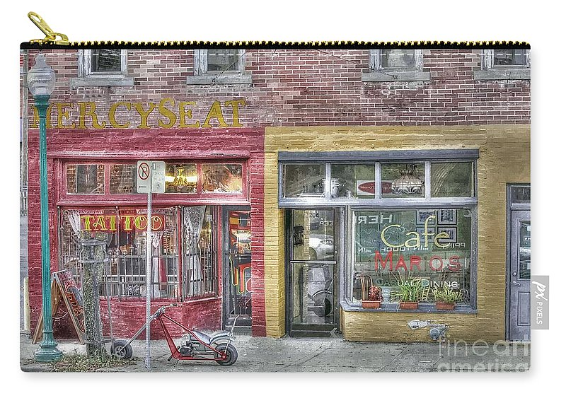 Urban Mercyseat Oil Painting Carry-all Pouch featuring the photograph Urban Mercyseat Oil Painting by Liane Wright