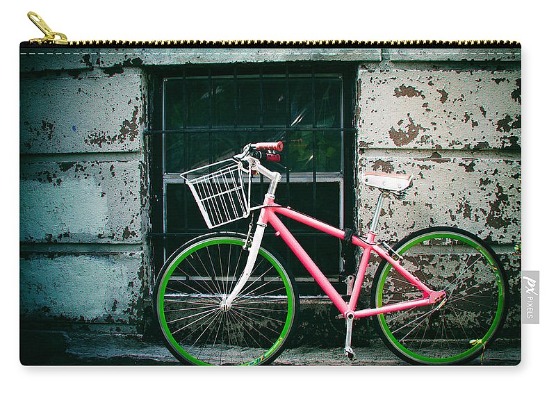 Bicycle Carry-all Pouch featuring the photograph Urban Ride by Zina Zinchik