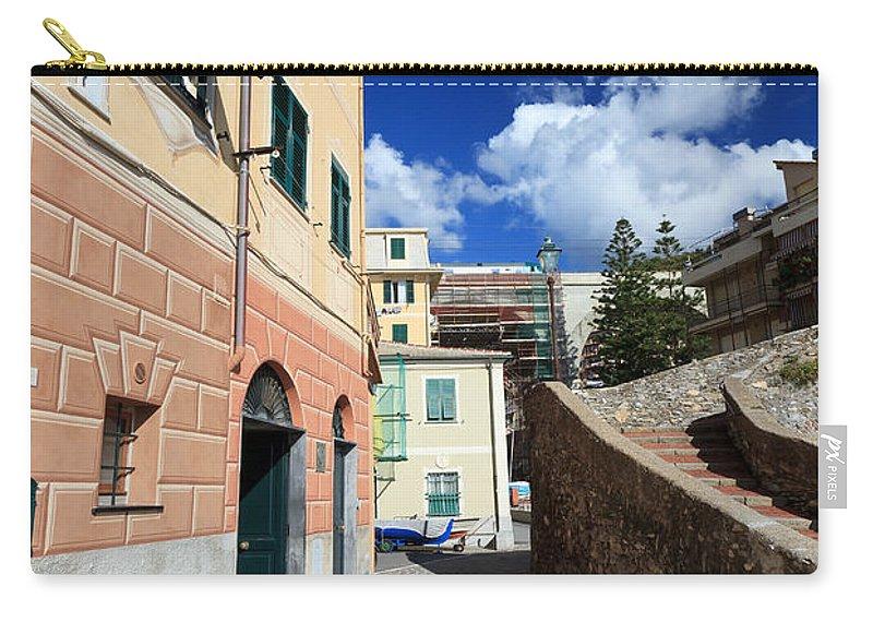 Ancient Carry-all Pouch featuring the photograph urban scene in Bogliasco by Antonio Scarpi