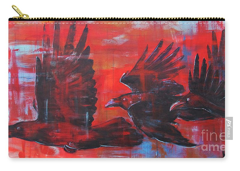 Ravens Carry-all Pouch featuring the painting Urban Sunset by Joseph Rizzo