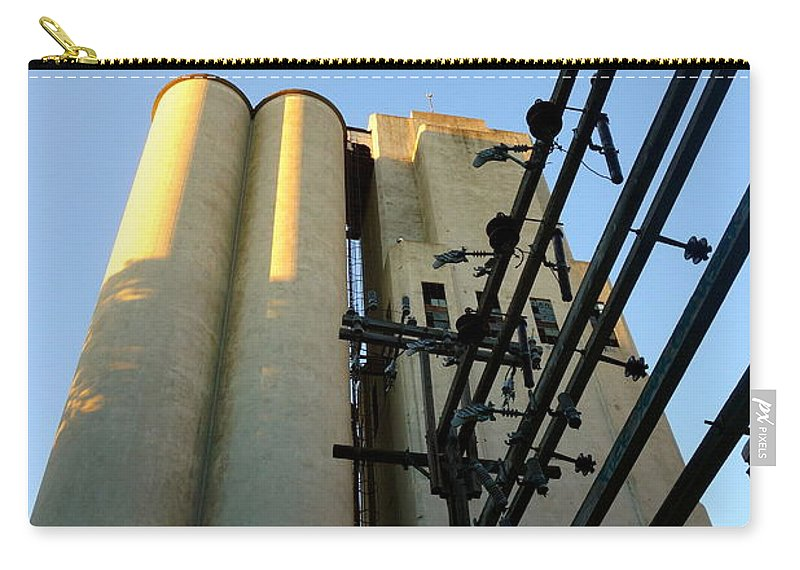 Tower Carry-all Pouch featuring the photograph Urban Towers And Poles by Jacqueline Athmann