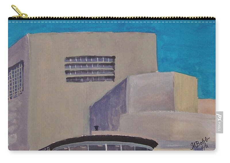 Guggenheim Carry-all Pouch featuring the painting Urn On The Guggenheim by Margaret Bobb