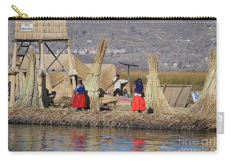 Travel Carry-all Pouch featuring the photograph Uros Village by Jason O Watson