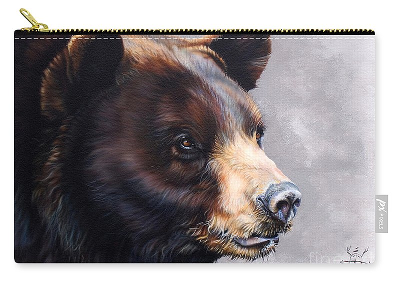 Bear Carry-all Pouch featuring the painting Ursa Major by J W Baker
