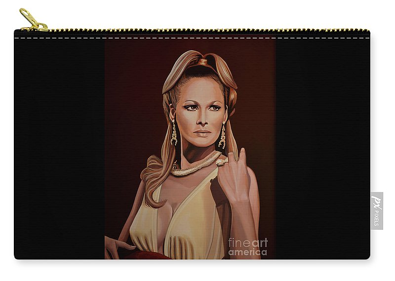 Ursula Andress Carry-all Pouch featuring the painting Ursula Andress by Paul Meijering