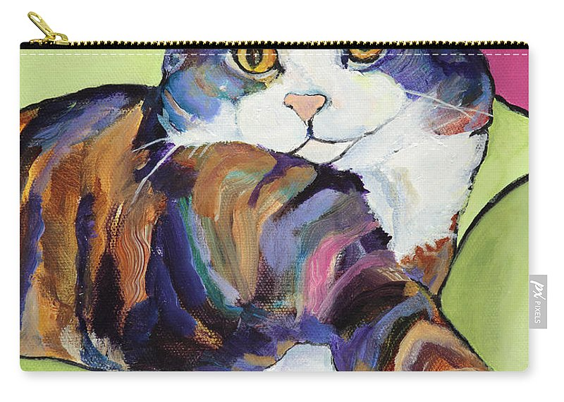 Pat Saunders-white Canvas Prints Carry-all Pouch featuring the painting Ursula by Pat Saunders-White