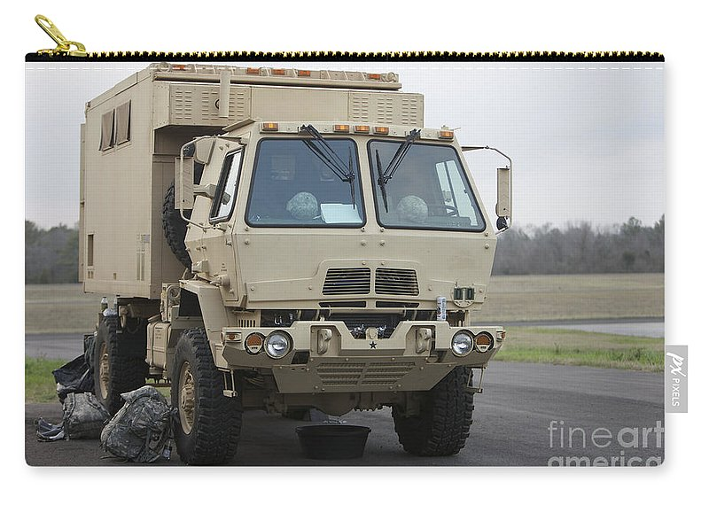 Aircraft Carry-all Pouch featuring the photograph U.s. Army Truck by Terry Moore