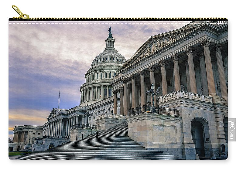 Tranquility Carry-all Pouch featuring the photograph Us Capitol Building And Senate Chamber by Mbell