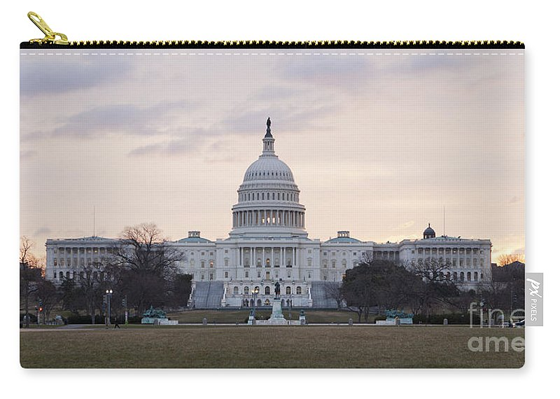 Us Carry-all Pouch featuring the photograph Us Capitol Building West Facade by B Christopher