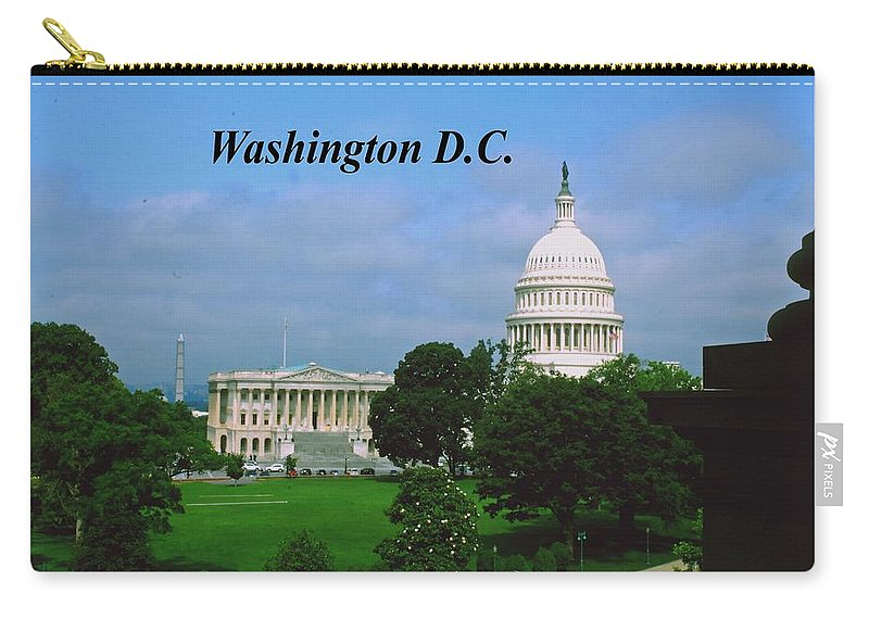 United Carry-all Pouch featuring the photograph U.s. Capitol by Gary Wonning
