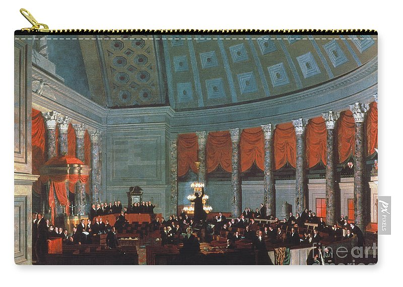 1822 Carry-all Pouch featuring the painting U.s. Congress - House by Granger