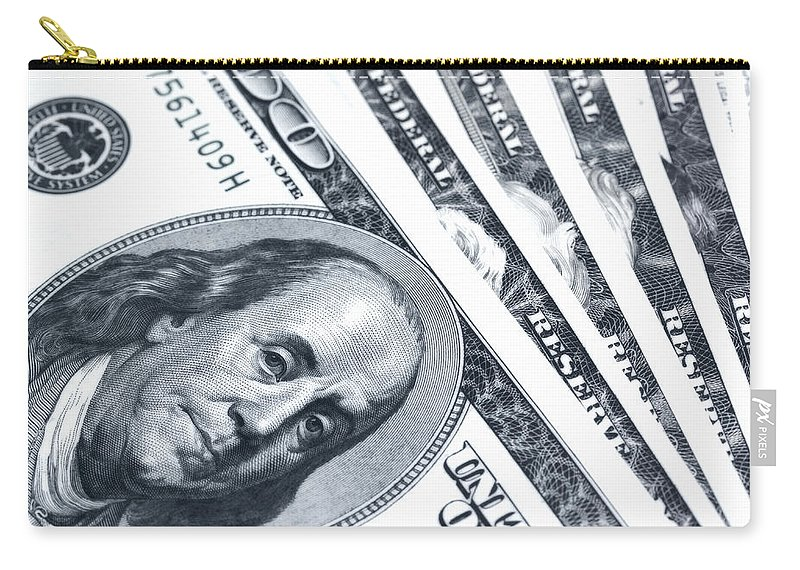 America Carry-all Pouch featuring the photograph Us Dollar Bills by Jaroslav Frank