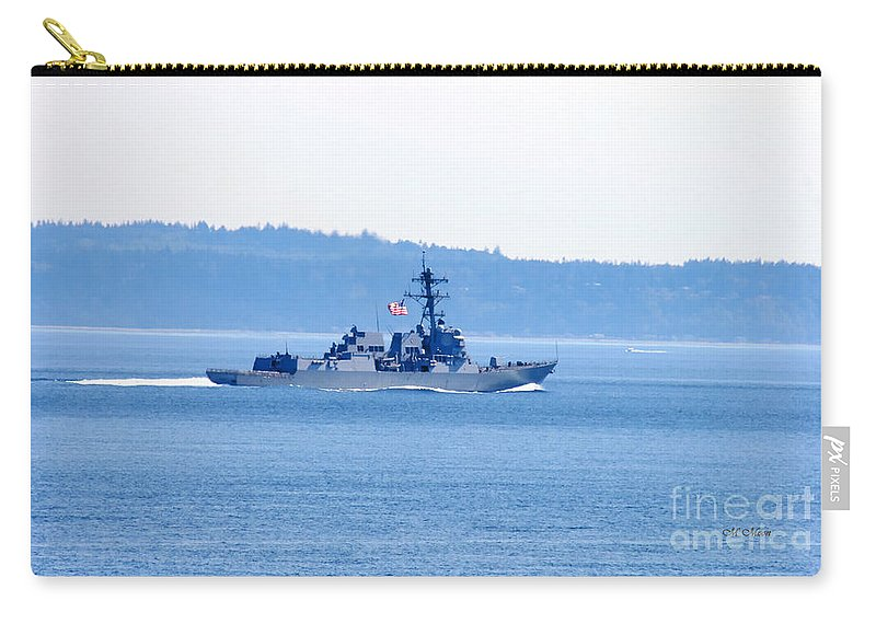 Navy Carry-all Pouch featuring the photograph U.s. Navy Ship by Tap On Photo