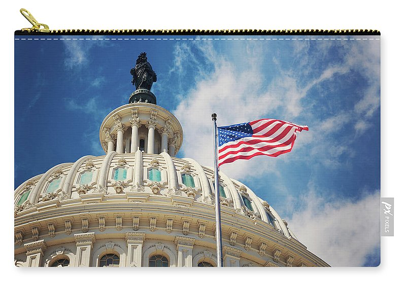 Outdoors Carry-all Pouch featuring the photograph Usa, Columbia, Washington Dc, Capitol by Tetra Images - Henryk Sadura