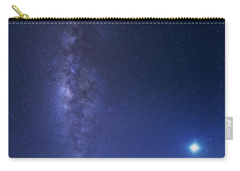 Tranquility Carry-all Pouch featuring the photograph Usa, Hawaii, Maui, Milky Way by Michele Falzone