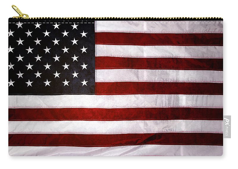 Flag Carry-all Pouch featuring the photograph USA by Les Cunliffe