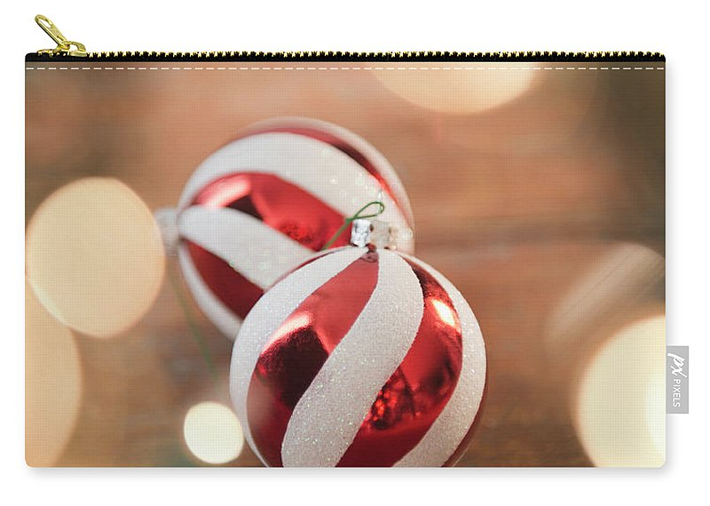 Christmas Ornament Carry-all Pouch featuring the photograph Usa, New Jersey, Jersey City, Christmas by Jamie Grill