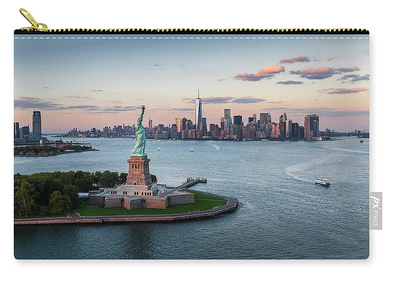 Tourboat Carry-all Pouch featuring the photograph Usa, New York State, New York City by Tetra Images