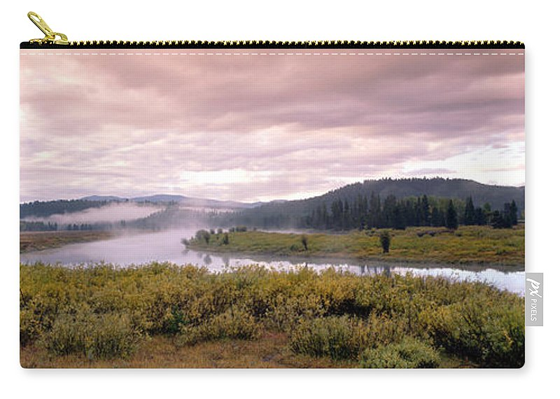 Photography Carry-all Pouch featuring the photograph Usa, Wyoming, Yellowstone Park, Snake by Panoramic Images