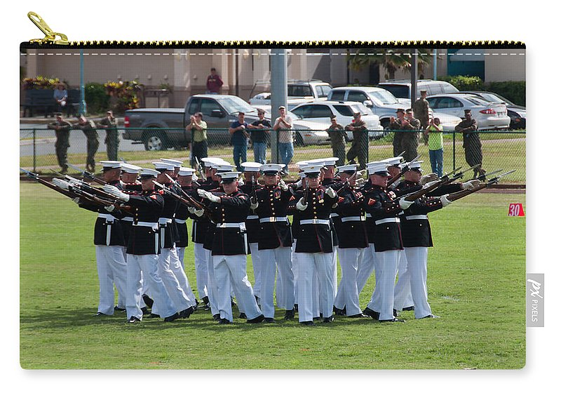 Hawaii Carry-all Pouch featuring the photograph Usmc Silent Drill Platoon by Dan McManus