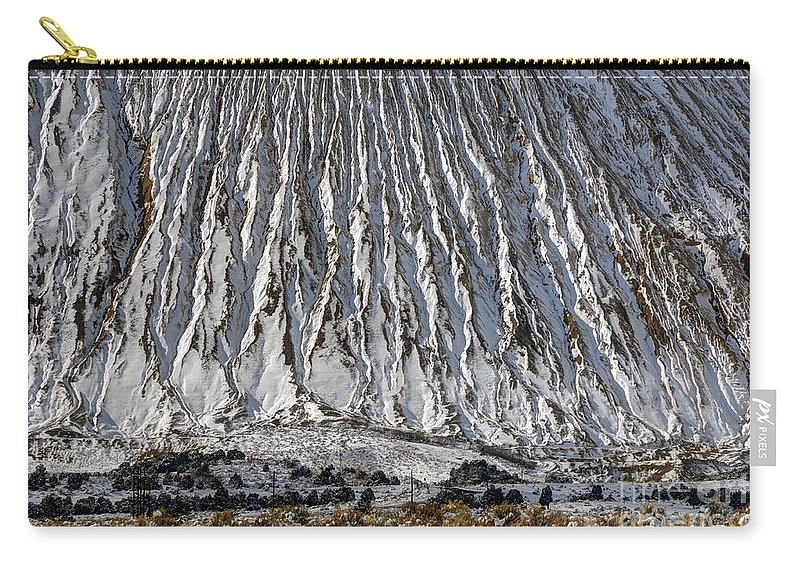 Utah Carry-all Pouch featuring the photograph Utah Copper Mine Tailings Pile In Winter by Gary Whitton