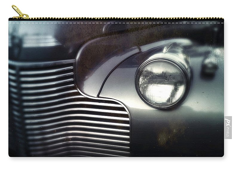 Classic Carry-all Pouch featuring the photograph V8 Grill In Gray by Tim Nyberg