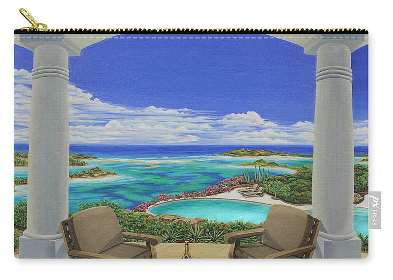 Ocean Carry-all Pouch featuring the painting Vacation View by Jane Girardot