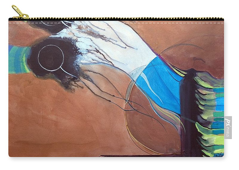 Judaic Carry-all Pouch featuring the painting V'ahavtah by Marlene Burns