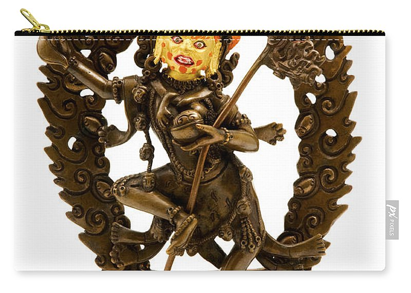 White Background Carry-all Pouch featuring the photograph Vajrayogini by Fabrizio Troiani