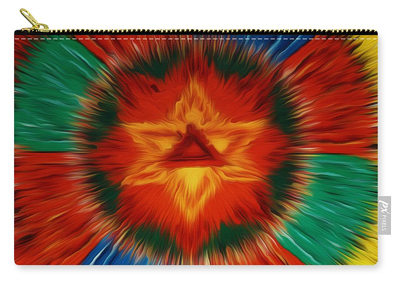 Vajrayogini Mandala Carry-all Pouch featuring the painting Vajrayogini Mandala by Jeelan Clark