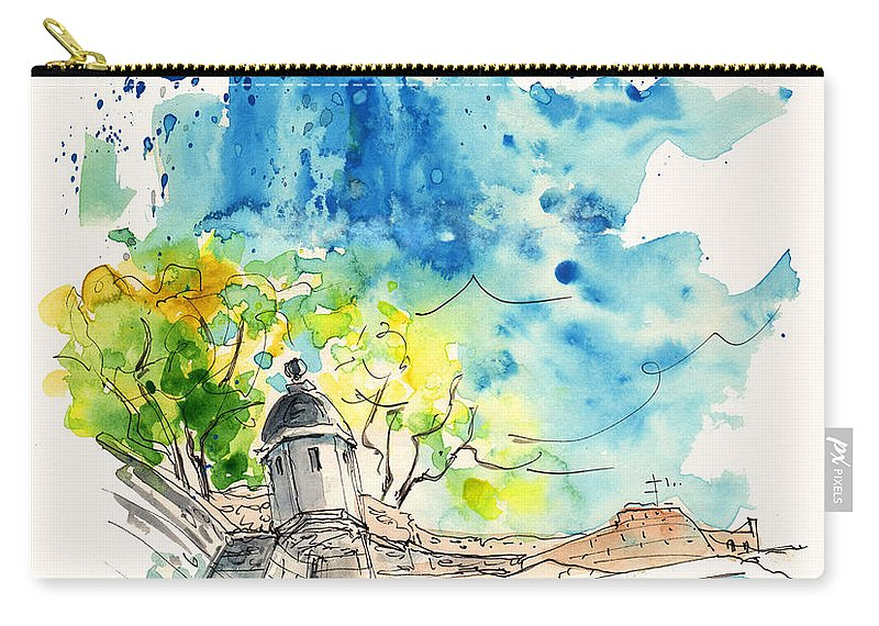 Travel Carry-all Pouch featuring the painting Valenca 03 by Miki De Goodaboom