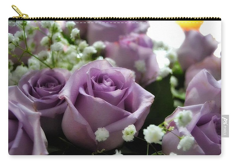 Roses Carry-all Pouch featuring the photograph Valentine Roses by Kathy McCabe
