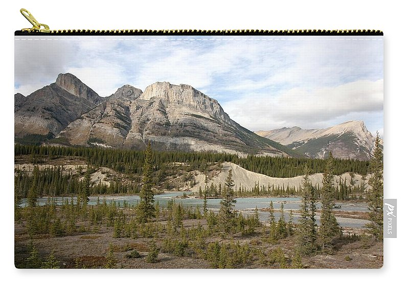Nature Carry-all Pouch featuring the photograph Valley Crossing - Yoho National Park, British Columbia by Ian Mcadie