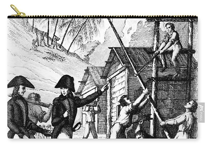 1777 Carry-all Pouch featuring the photograph Valley Forge, 1777 by Granger