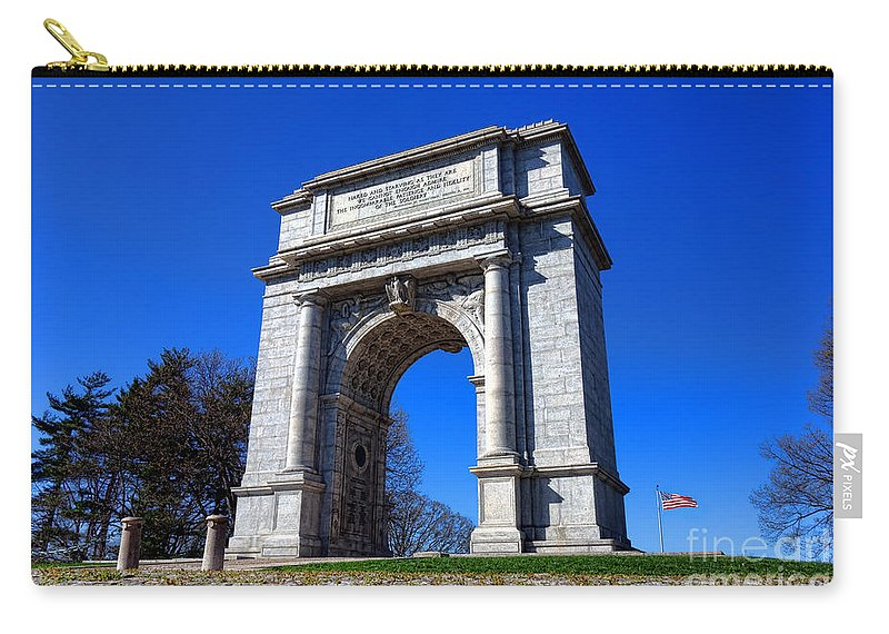 National Carry-all Pouch featuring the photograph Valley Forge Glory by Olivier Le Queinec
