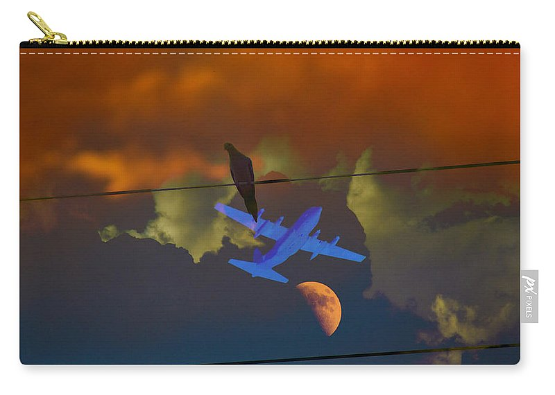 Art Carry-all Pouch featuring the photograph Valley Frenzy by Mayhem Mediums
