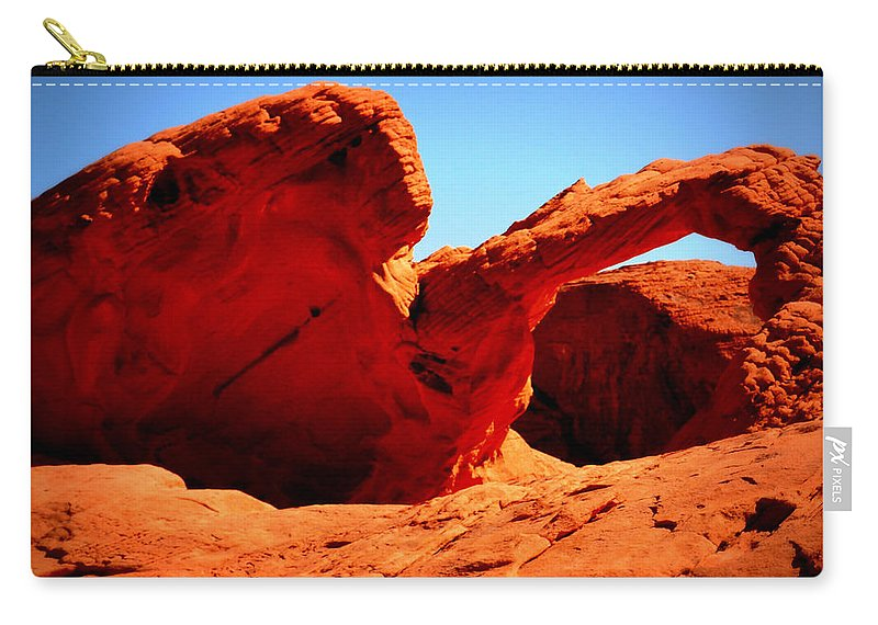 Valley Of Fire Carry-all Pouch featuring the photograph Valley Of Fire Nevada Desert by Katy Hawk
