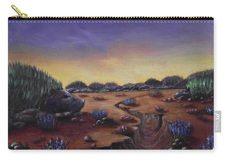 Hedgehog Carry-all Pouch featuring the painting Valley Of The Hedgehogs by Anastasiya Malakhova