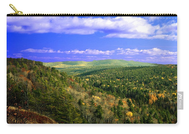 Optical Playground By Mp Ray Carry-all Pouch featuring the photograph Valley Of Trees by Optical Playground By MP Ray