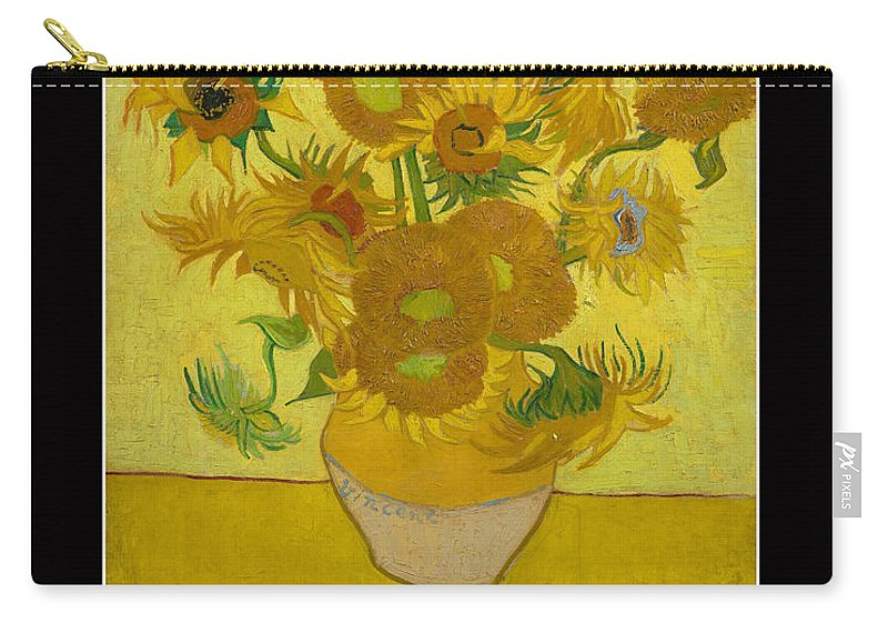 Van Gogh Motivational Quotes - Sunflowers Carry-all Pouch