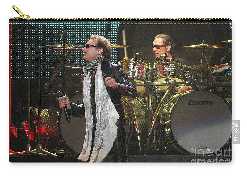 Van Halen Carry-all Pouch featuring the photograph Van Halen-7073 by Gary Gingrich Galleries