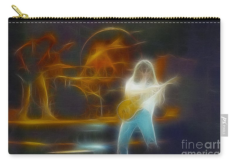Music Carry-all Pouch featuring the photograph Van Halen-91-ge7a-fractal by Gary Gingrich Galleries