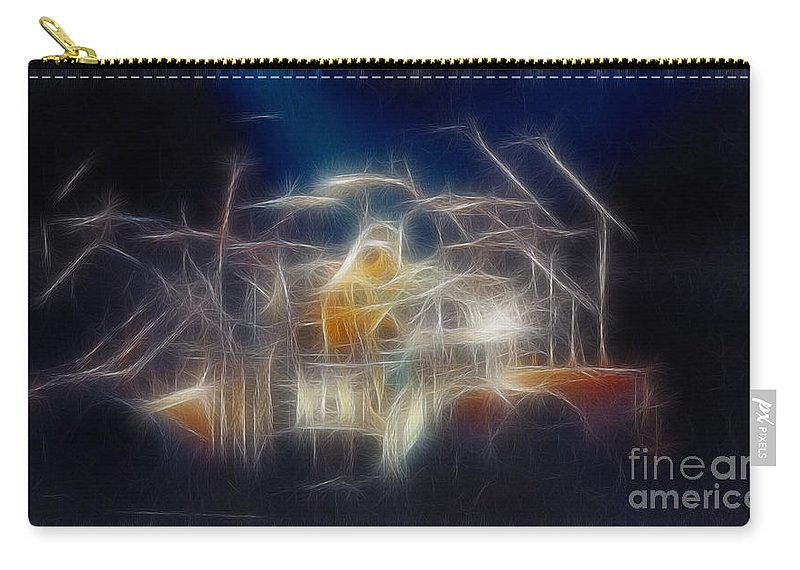 Music Carry-all Pouch featuring the photograph Van Halen-ou812-d32a-fractal by Gary Gingrich Galleries