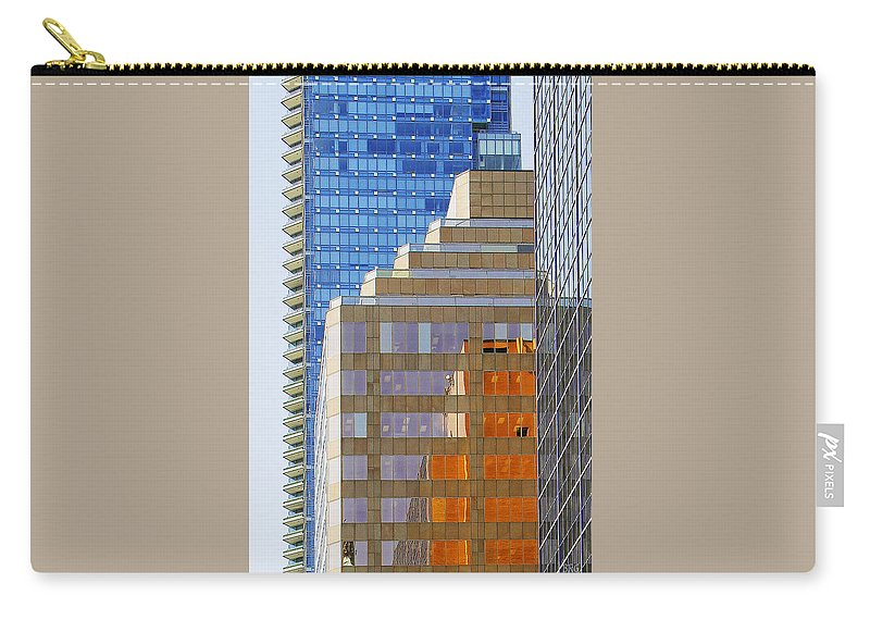 Architecture Carry-all Pouch featuring the photograph Vancouver Reflections No 1 by Ben and Raisa Gertsberg