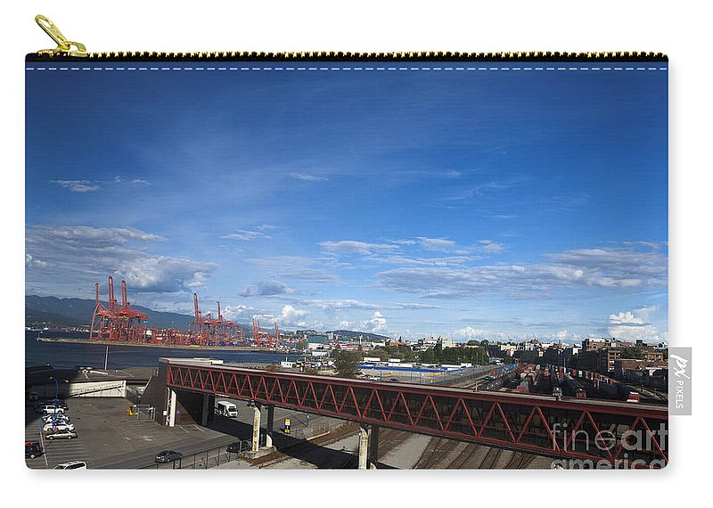 Travel Carry-all Pouch featuring the photograph Vancouver Shipyards by Jason O Watson
