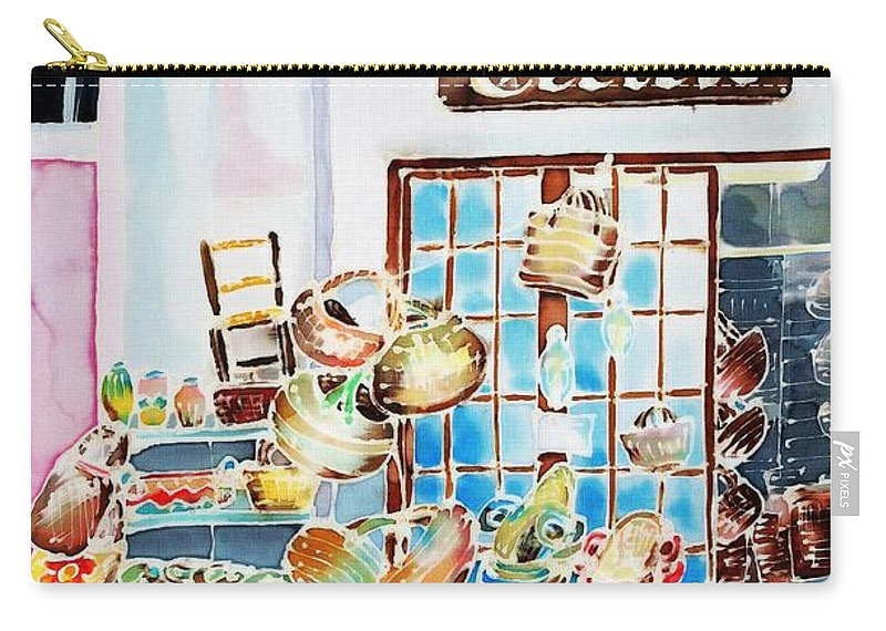 France Carry-all Pouch featuring the painting Vannerie by Hisayo Ohta