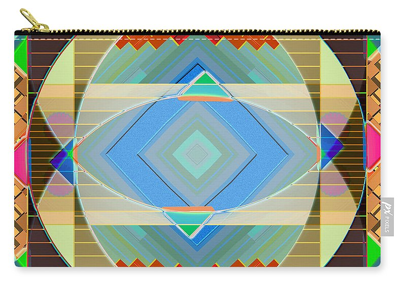 Mandala Carry-all Pouch featuring the digital art Variation On A Theme by Mario Carini